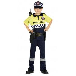 Disfraz de Policía local infantil . Traje de policía local para niño.