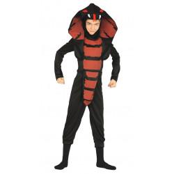 Disfraz de cobra ninja infantil. Traje de serpiente para niño