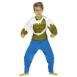 Disfraz de Forzudo Verde Infantil - Disfraz de Superheroe para Niño