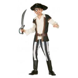 Pirata sanguinario infantil . Traje de pirata para niño.