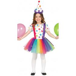 Disfraz de Payasita infantil - Vestido de payasa para niña