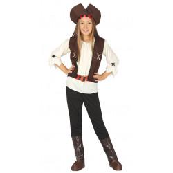 Disfraz de pirata de los siete mares infantil - Disfraz de bucanera para niña