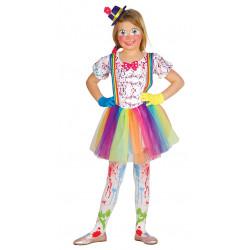 Disfraz de Payasita infantil - Disfraz Colorido Alegre para Niña
