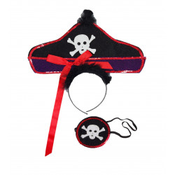 Conjunto Pirata Diadema+Parche
