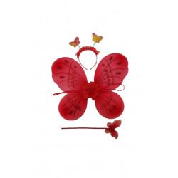 Conjunto De Mariposa Rojo