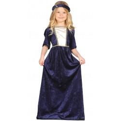 Disfraz de dama medieval infantil - Vestido de princesa del renacimiento para niña
