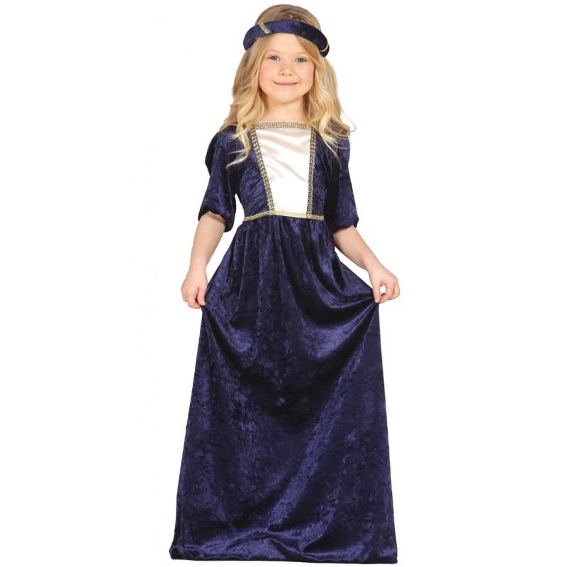 9d1625777 Disfraz de dama medieval infantil - Vestido de princesa del renacimiento  para niña