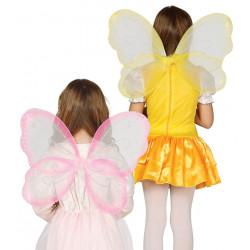 Alas Purpurina Rosa / Amarillo. Alas de mariposa infantil