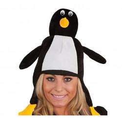Gorro De Peluche Pingüino