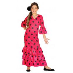 Disfraz de Flamenca Infantil - Disfraz de Danza Flamenco o Sevillana para Niña