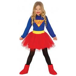 Disfraz de Supergirl infantil - Disfraz de superhéroe para niña