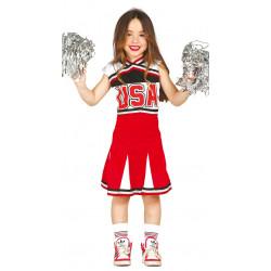 Disfraz de Animadora infantil - Disfraz de Cheerleader para Niña