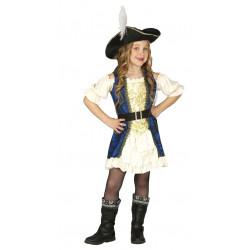 Disfraz de Capitana Pirata Infantil - Disfraz Elegante de Pirata para Niña