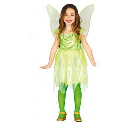 Disfraz de Hada del Bosque Infantil - disfraz de Mariposa Verde para Niña