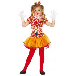 Disfraz de Payasita infantil - Disfraz Alegre para Niña