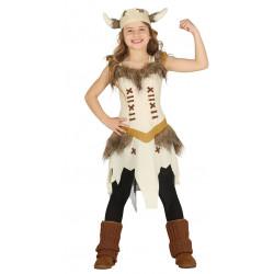Disfraz de vikinga infantil - Disfraz de niña nórdica