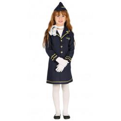 Disfraz de Azafata infantil - Disfraz de sobrecargo para niña