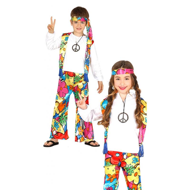 40c922c36 Disfraz de Hippie para Niño y Niña - Conjunto Hippie Infantil