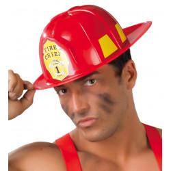 Casco rojo de bombero para adulto