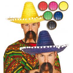 Sombrero mejicano de paja para disfraz