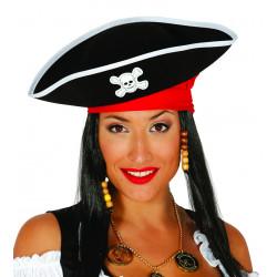Sombrero pirata negro adulto