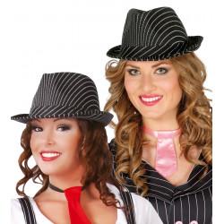 Sombrero ganster de rayas