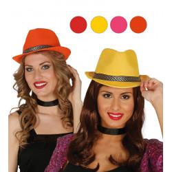 Sombrero gánster, varios colores