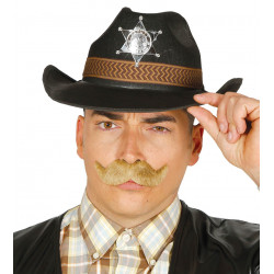 Sombrero de sheriff con estrella