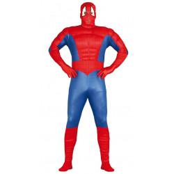 Disfraz de superhéroe musculoso adulto. Disfraz de Spiderman para adulto