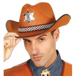 Sombrero marrón de sheriff