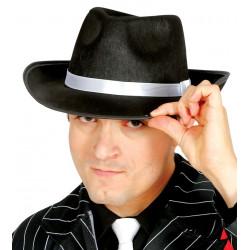 Sombrero ganster negro fedora