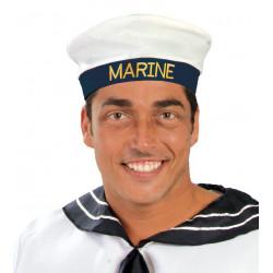 Gorra blanca de marinero