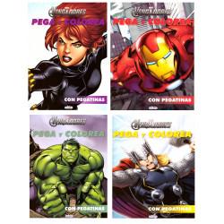 Los Vengadores Pega Color