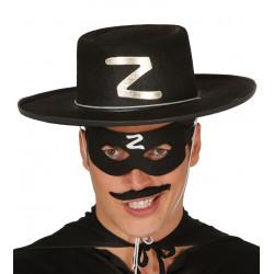Sombrero de El Zorro negro para adulto