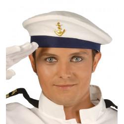 Gorra blanca de marinero para disfraz