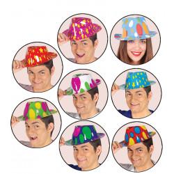 Sombrero gánster de plástico surtido