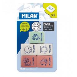 Gomas de Borrar 5 Unidades Milan