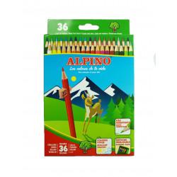 Lápices 36 colores, Alpino