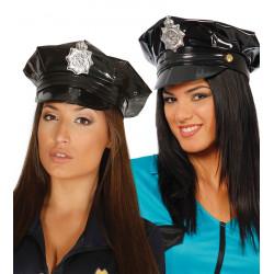 Gorra de policía sexy con placa