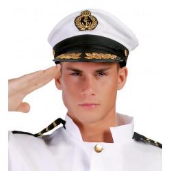 Gorra blanca de capitán de barco