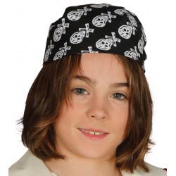 Sombrero pirata infantil. Pañuelo de pirata con calaveras