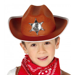 Sombrero marrón de Sheriff infantil