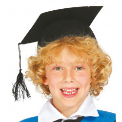 Sombrero estudiante graduado infantil. Birrete infantil