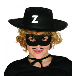 Sombrero de bandido infantil. Sombrero infantil de El Zorro
