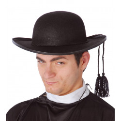 Sombrero negro de cura y sacerdote