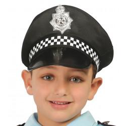 Gorra de policía infantil.