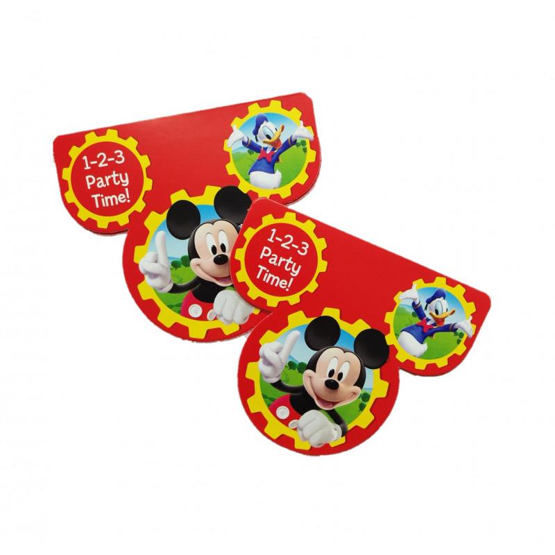 Tarjetas Invitaciones Mickey Mouse Bazar Chinatown