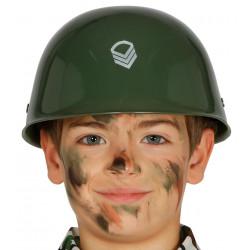 Casco militar infantil PVC