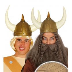 Casco de vikingo con cuernos