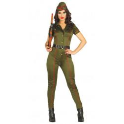 Disfraz soldado de Legión Española para mujer. Mono militar adulta
